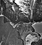 Barrier Glacier, terminus of valley glacier, part of the terminus transforming into a rock glacier, September 22, 1992 (GLACIERS 6883).jpg