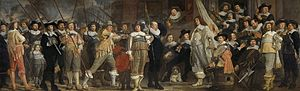 Meagre Company - The Company of Roelof Bicker and lieutenant Jan Michielsz Blaeuw in 1639, by Van der Helst
