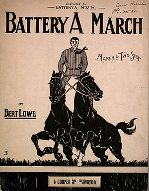 Battery A March - Image: Battery A March cover