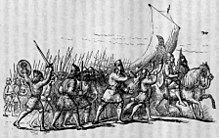 Illustration of a Viking army on the march