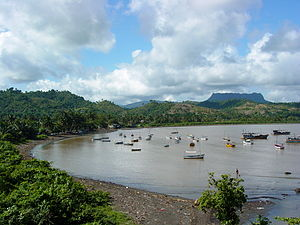 English: Bay in Baracoa, Cuba. January 2003.