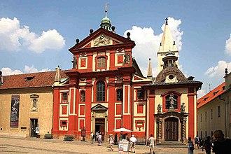 St. George's Basilica, Prague - Image: Bazilika Svatého Jiří vstup