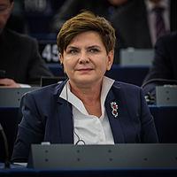 Beata Szydło au Parlement européen Strasbourg 19 janvier 2016
