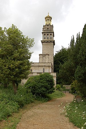 Beckford's Tower - Beckford's Tower with part of the surrounding cemetery