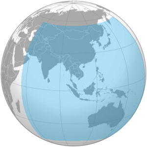 BeiDou Navigation Satellite System - Coverage polygon of BeiDou-2 in 2012.