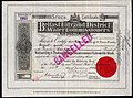 Belfast City & District Water Commissioners, 3.5% redeemable stock, 1904.jpg