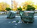 Belgrade 2010-10-10 overturned dumpsters.jpg