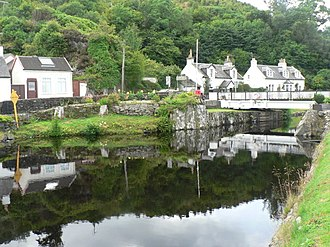 Loch Fyne - Bellanoch, canal reflections - geograph.org.uk - 915988