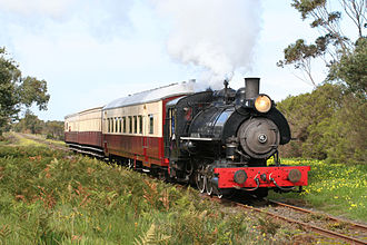 Tourist and Heritage Railways Act - Ex Fyansford Cement Works Railway steam locomotive No.4 on The Bellarine Railway