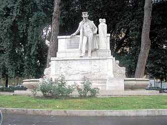 Giuseppe Gioachino Belli - Monument to Belli in the rione of Trastevere, in Rome.