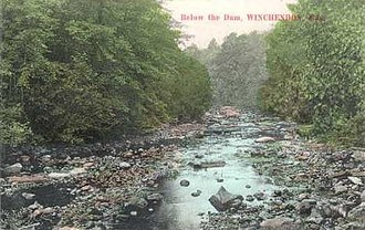 Winchendon, Massachusetts - Below the Dam, 1909