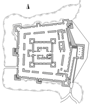 Belvoir Fortress - Plan of Belvoir Castle