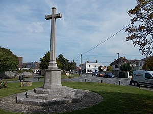 Bembridge - Bembridge village centre, with the war memorial in the foreground