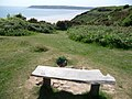 Bench above Little Tor with views of Oxwich Bay - geograph.org.uk - 2416974.jpg