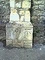 Benchmark on wall pier of Abingdon Cemetery Lodge - geograph.org.uk - 2094449.jpg
