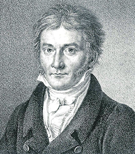 Portrait of Gauss published in Astronomische Nachrichten (1828) Bendixen - Carl Friedrich Gauss, 1828.jpg