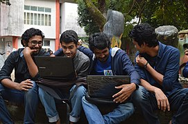 Bengali Wikipedians at Wikipedia 15 good article edit-a-thon and adda, Chittagong 2 (31).jpg