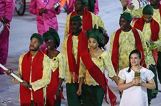 Benin at the 2016 Summer Olympics - Sabre fencer Yémi Apithy led the Benin team in the opening ceremony.