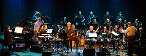 2014 in jazz - John Surman and Karin Krog with Bergen Big Band  at USF Verftet, Bergen 2014.