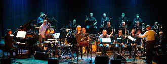 2014 in jazz - John Surman and Karin Krog with Bergen Big Band  at USF Verftet, Bergen 2014.