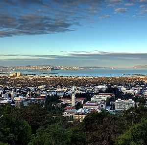 Looking west over the city from the Berkeley Hills, with San Francisco in the background