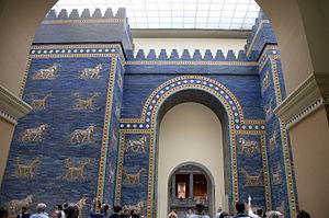 Architecture of Mesopotamia - Reconstruction of the Ishtar Gate at Babylon, Pergamon Museum, Berlin