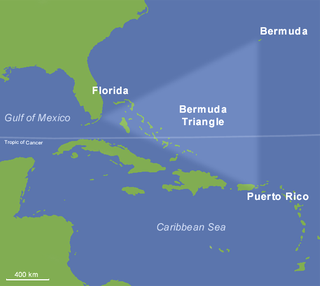 Bermuda Triangle undefined region in the western part of the North Atlantic Ocean