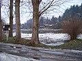 Berounka, nahromadění ker v lednu 2011, směr osada Kazín (01).jpg