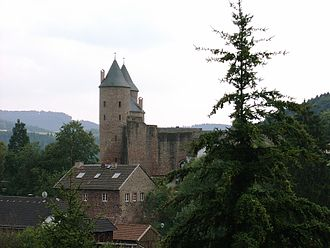 Bertrada of Prüm - Bertrada castle in Mürlenbach, named after Bertrada of Prüm