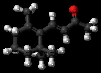Ionone - Image: Beta Ionone 3D ball