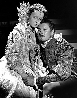 Bette Davis en Errol Flynn in The Private Lives of Elizabeth and Essex