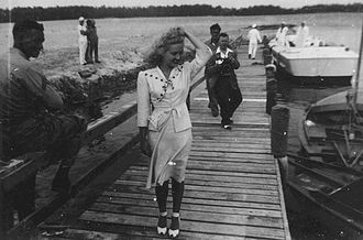 Marine Corps Base Camp Lejeune - Betty Grable at the New River, 1942