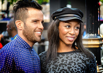 Beverley Knight - Knight with husband James O'Keefe, 2013
