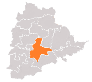 Bhuvanagiri (Lok Sabha constituency) - Boundary of Bhongir Constituency in Telangana