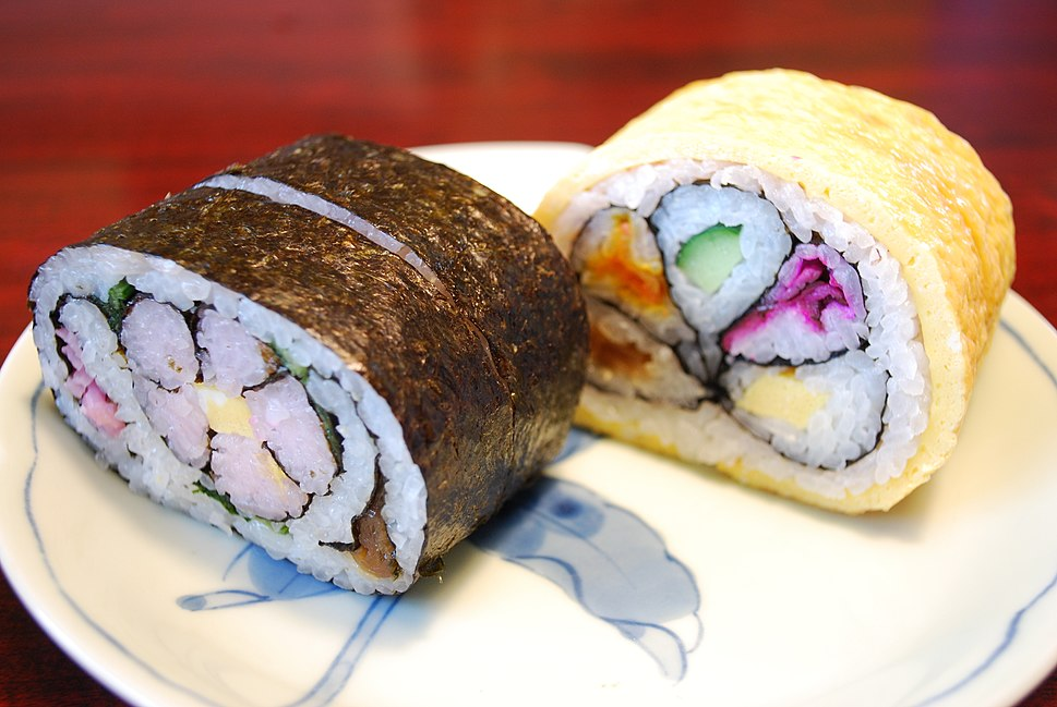 Big rolled sushi,Hutomakizushi,Katori-city,Chiba,Japan