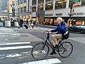 Bill Cunningham on Bike in Midtown on May 12th 2016.jpg