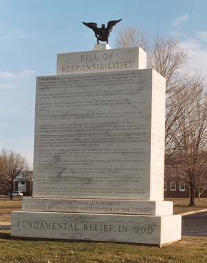 Freedoms Foundation - Bill of Responsibilities at the Freedoms Foundation