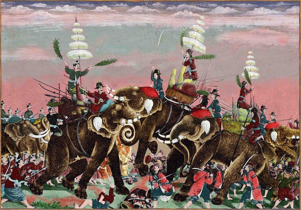 Combat entre Birmans et Thai (1593).