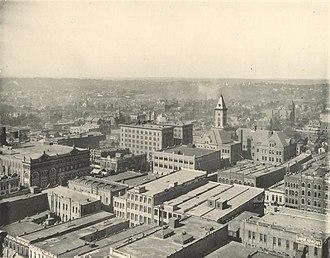 Timeline of Birmingham, Alabama - Image: Birmingham Alabama skyline 1907