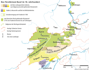 Jurassic separatism - The Prince-Bishopric of Basel in the 18th century
