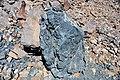 Black smoker rocks (sulfidic wad) (Helen Iron-Formation, Neoarchean, 2696-2749 Ma; Sir James Pit, Eleanor Iron Range, Ontario, Canada) 14 (48069914693).jpg