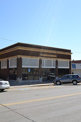 National Register of Historic Places listings in Montgomery County, Kansas - Image: Blakeslee Motor Company Building, Independence, KS