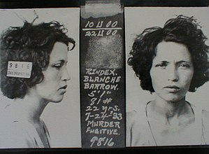 Blanche Barrow -  July 27, 1933 — Blanche was in prison until 1939.