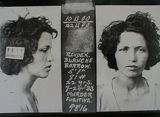 Blanche Barrow -  July 27, 1933 — Blanche was in prison until 1939.