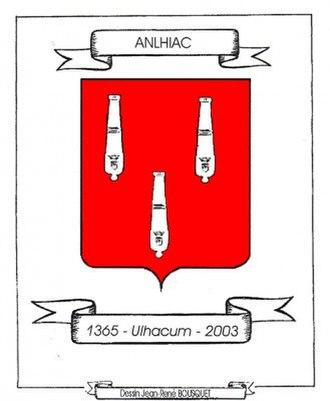 Anlhiac - Image: Blason commune d'Anlhiac