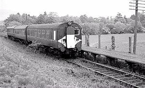 Bleach Green railway station - Image: Bleach Green station, Whiteabbey (geograph 3043790)