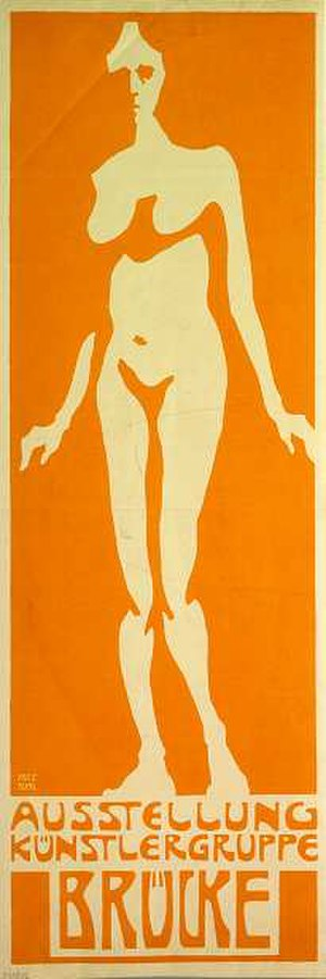 1906 in art - Fritz Bleyl poster for the first Die Brücke show