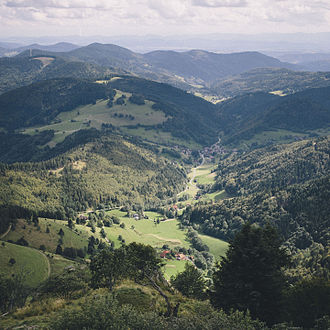 Baden-Württemberg - The Black Forest seen from the Belchen