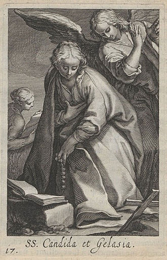 Boetius à Bolswert - Saint Candida and Gelasia, from Sylva Anachoretica Ægypti Et Palæstinæ