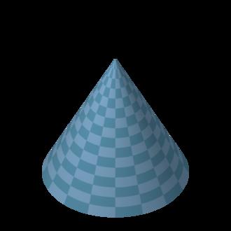 Bore (wind instruments) - Image: Blue cone